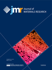Journal of Materials Research Volume 34 - Issue 10 -