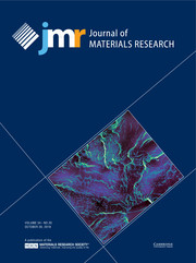 Journal of Materials Research Volume 34 - Issue 20 -