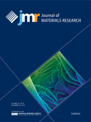 Journal of Materials Research Volume 34 - Issue 22 -