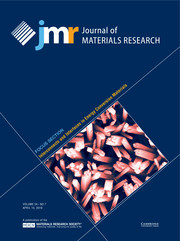Journal of Materials Research Volume 34 - Issue 7 -  Focus Section: Interconnects and Interfaces in Energy Conversion Materials