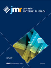 Journal of Materials Research Volume 34 - Issue 8 -