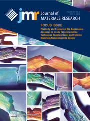 Journal of Materials Research Volume 34 - Issue 9 -  Focus Issue: Plasticity and Fracture at the Nanoscales - Advances in in situ Experimentation Techniques Enabling Novel and Extreme Materials/Nanocomposite Design