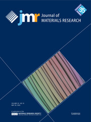 Journal of Materials Research Volume 35 - Issue 10 -