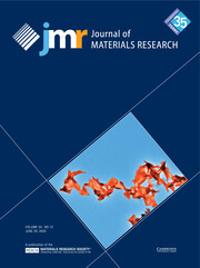 Journal of Materials Research Volume 35 - Issue 12 -