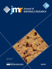 Journal of Materials Research Volume 35 - Issue 9 -