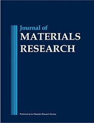 Journal of Materials Research Volume 8 - Issue 8 -