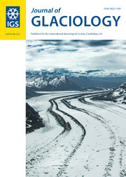 Journal of Glaciology Volume 63 - Issue 241 -