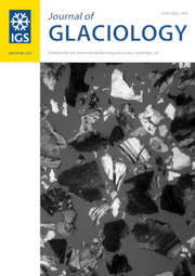Journal of Glaciology Volume 64 - Issue 244 -