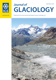 Journal of Glaciology Volume 64 - Issue 248 -