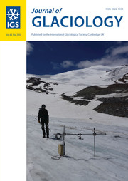 Journal of Glaciology Volume 65 - Issue 250 -