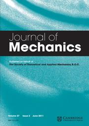 Journal of Mechanics Volume 27 - Issue 2 -