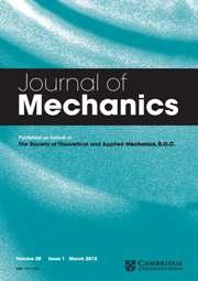 Journal of Mechanics Volume 28 - Issue 1 -