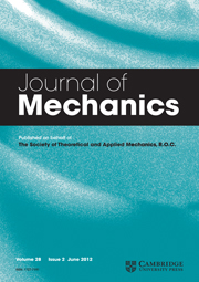 Journal of Mechanics Volume 28 - Issue 2 -