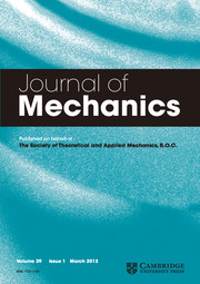 Journal of Mechanics Volume 29 - Issue 1 -