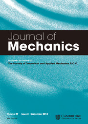 Journal of Mechanics Volume 29 - Issue 3 -