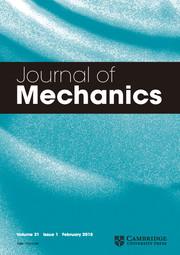 Journal of Mechanics Volume 31 - Issue 1 -