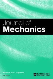 Journal of Mechanics Volume 34 - Issue 4 -