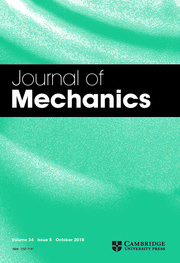 Journal of Mechanics Volume 34 - Issue 5 -