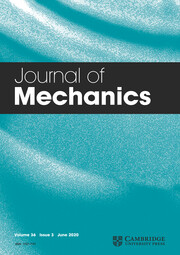 Journal of Mechanics Volume 36 - Issue 3 -