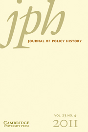 Journal of Policy History Volume 23 - Issue 4 -