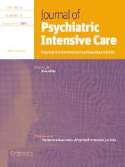 Journal of Psychiatric Intensive Care Volume 1 - Issue 1 -
