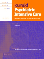 Journal of Psychiatric Intensive Care Volume 2 - Issue 1 -