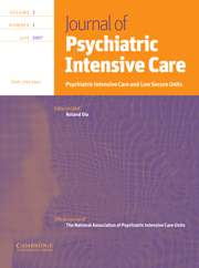 Journal of Psychiatric Intensive Care Volume 3 - Issue 1 -