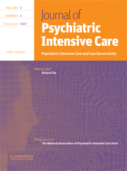 Journal of Psychiatric Intensive Care Volume 3 - Issue 2 -