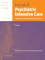 Journal of Psychiatric Intensive Care Volume 5 - Issue 1 -