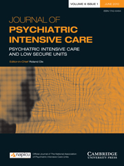 Journal of Psychiatric Intensive Care Volume 6 - Issue 1 -