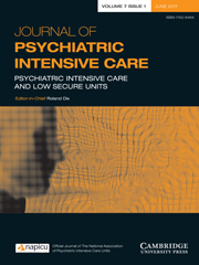 Journal of Psychiatric Intensive Care Volume 7 - Issue 1 -