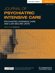 Journal of Psychiatric Intensive Care Volume 8 - Issue 1 -