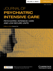 Journal of Psychiatric Intensive Care Volume 9 - Issue 1 -