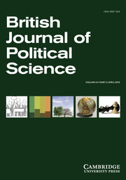 British Journal of Political Science Volume 43 - Issue 2 -