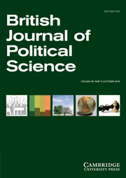 British Journal of Political Science Volume 49 - Issue 4 -