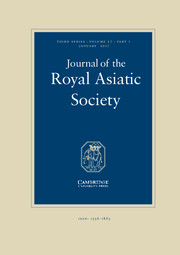 Journal of the Royal Asiatic Society Volume 27 - Issue 1 -