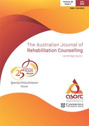 The Australian Journal of Rehabilitation Counselling