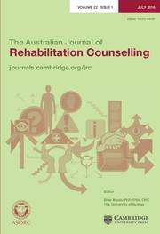 The Australian Journal of Rehabilitation Counselling Volume 22 - Issue 1 -