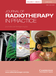 Journal of Radiotherapy in Practice Volume 11 - Issue 2 -