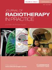 Journal of Radiotherapy in Practice Volume 12 - Issue 1 -