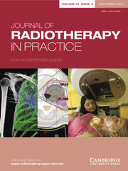 Journal of Radiotherapy in Practice Volume 13 - Issue 3 -