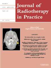 Journal of Radiotherapy in Practice Volume 5 - Issue 1 -