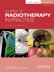 Journal of Radiotherapy in Practice Volume 8 - Issue 4 -