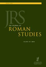 The Journal of Roman Studies Volume 100 - Issue  -