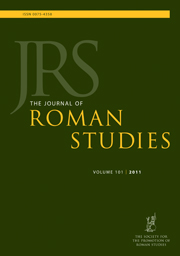 The Journal of Roman Studies Volume 101 - Issue  -