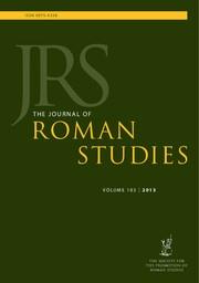 The Journal of Roman Studies Volume 103 - Issue  -