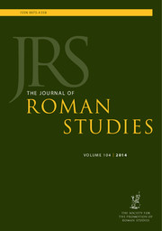 The Journal of Roman Studies Volume 104 - Issue  -