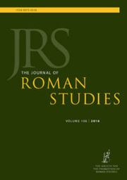 The Journal of Roman Studies Volume 106 - Issue  -