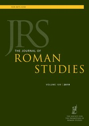 The Journal of Roman Studies Volume 109 - Issue  -