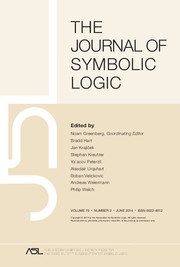 The Journal of Symbolic Logic Volume 79 - Issue 2 -